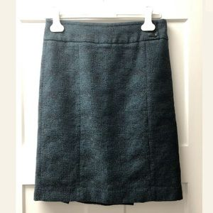 Ann Taylor Straight Tweed Multi-Color Skirt Size 4